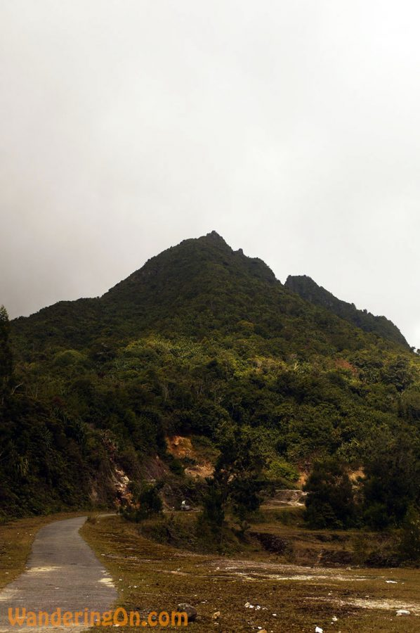 The peak of Gunung Sibayak, Western Sumatra