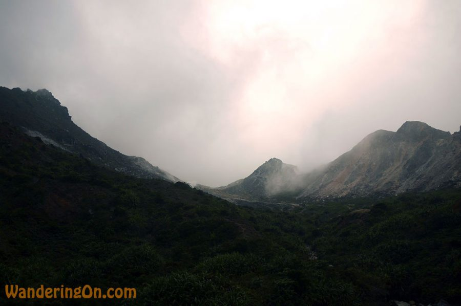 The barren landscape on the approach to the crater of Gunung Sibayak outside Berastagi, Sumatra