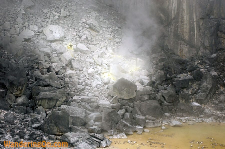 One of the larger vents down in the crater of Gunung Sibayak Volcano, Sumatra, Indonesia