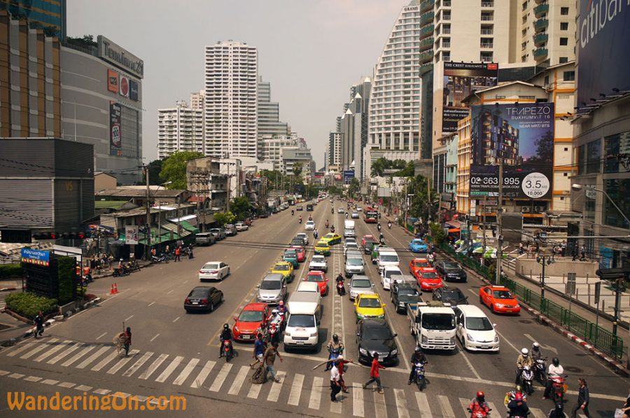 Busy streets of Central Bangkok