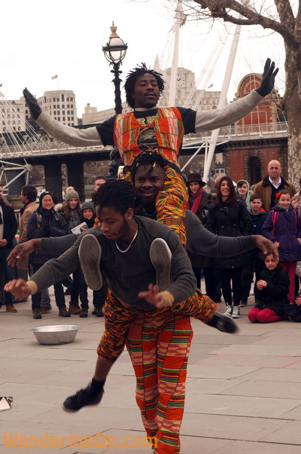 Acrobatic Street Performance, London