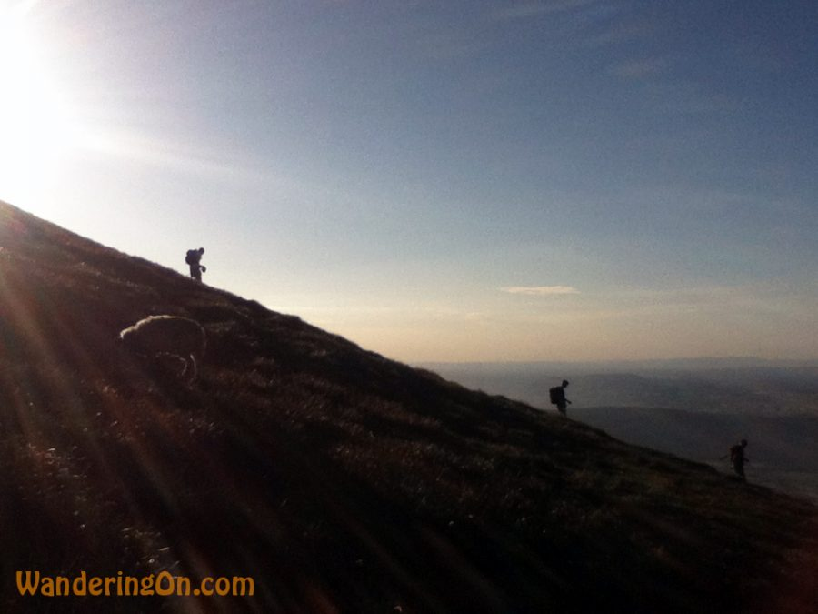 Hikers coming down from Galtee Mor, Ireland