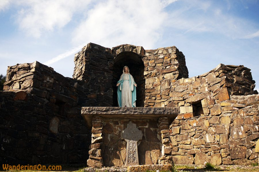 Statue of Mary on the way up to the top of the Devil's Bit, Co. Tipperary