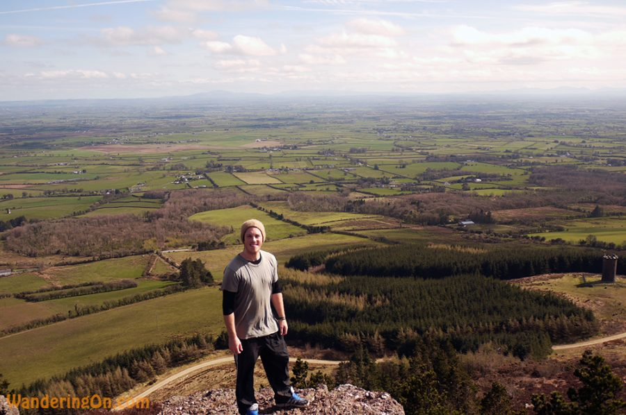 Brian enjoying the hike on a beautiful day in Tipperary, Ireland