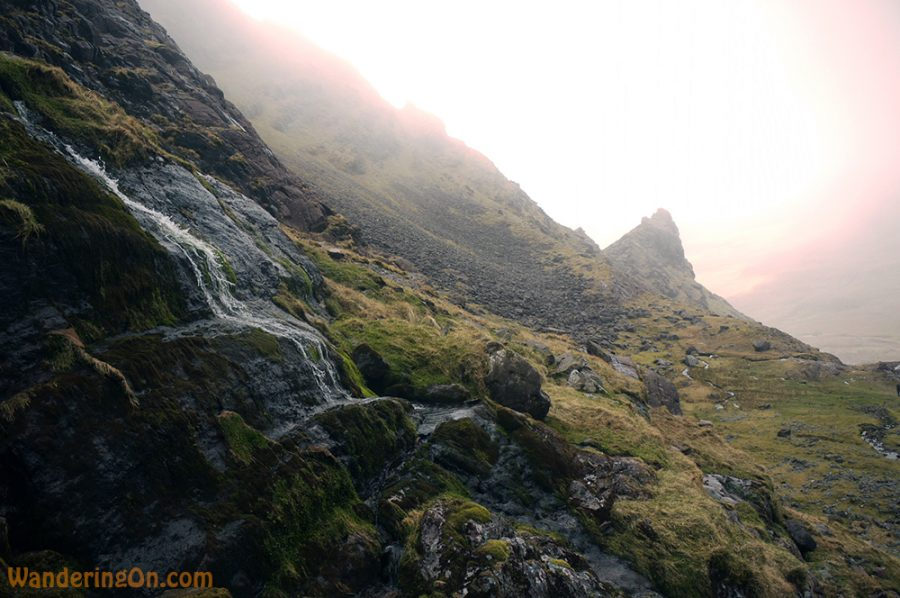 Sun breaking through the clouds, Carrauntoohil, Ireland