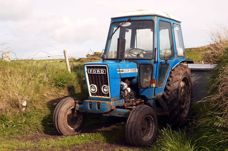 An old Mossy Ford Tractor