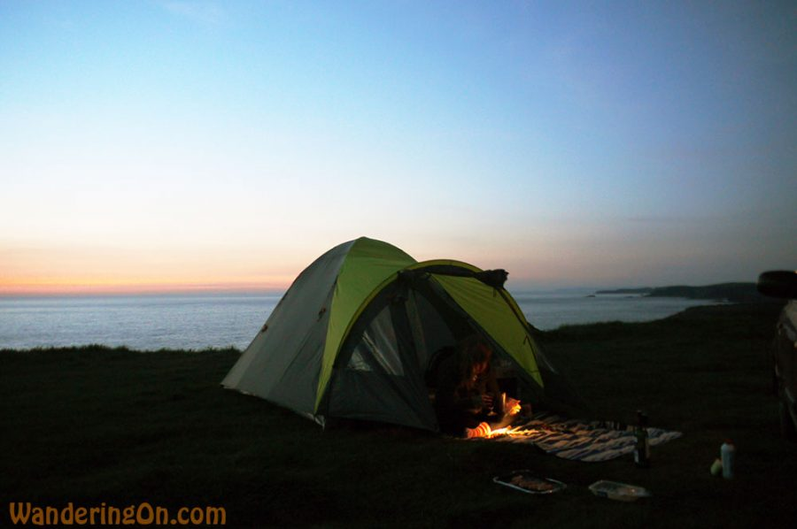 Camping on the edge of the headland. Loop Head, Co. Clare