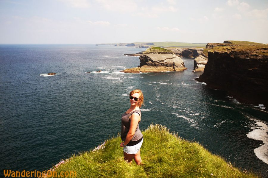 Noelle taking in the view from Loop Head, Co. Clare