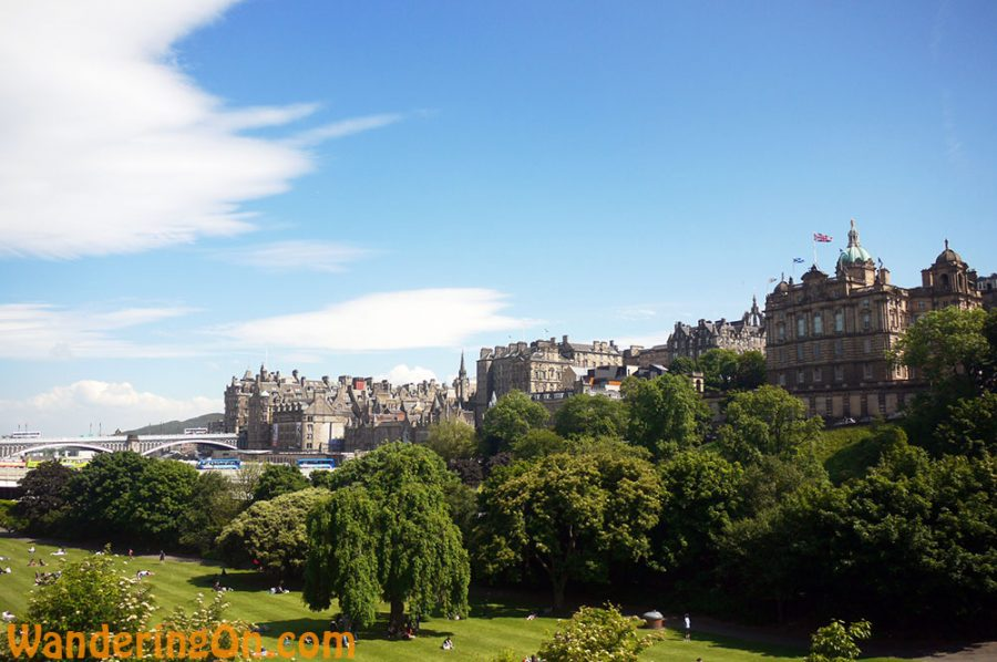 Views across West Princes Street Garden, Edinburgh
