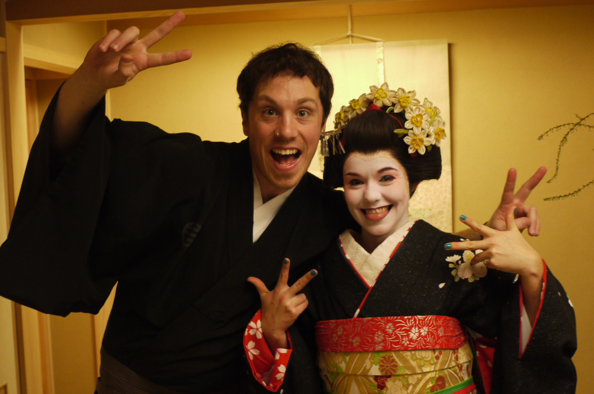 Playing dress up in Kyoto