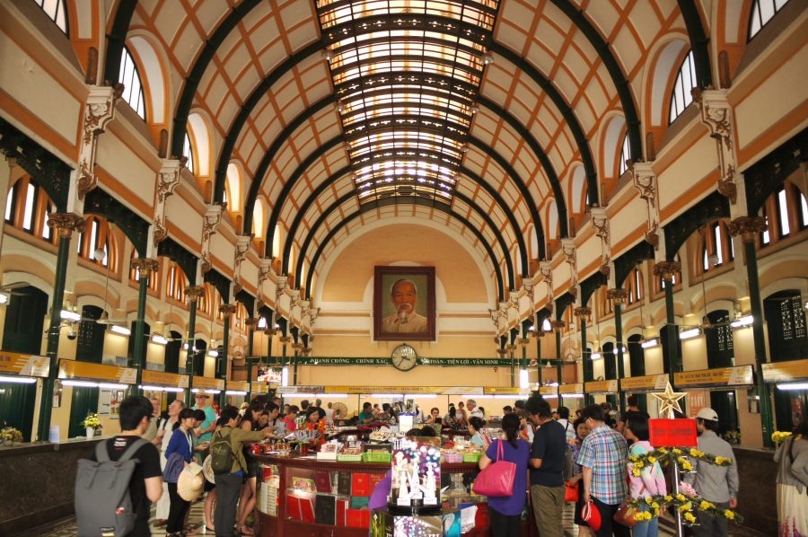 Inside Saigon Central Post Office