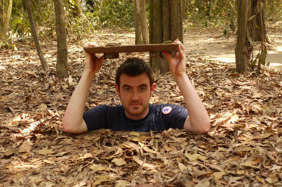 Michael popping out of one of the secret Chu Chi Tunnels