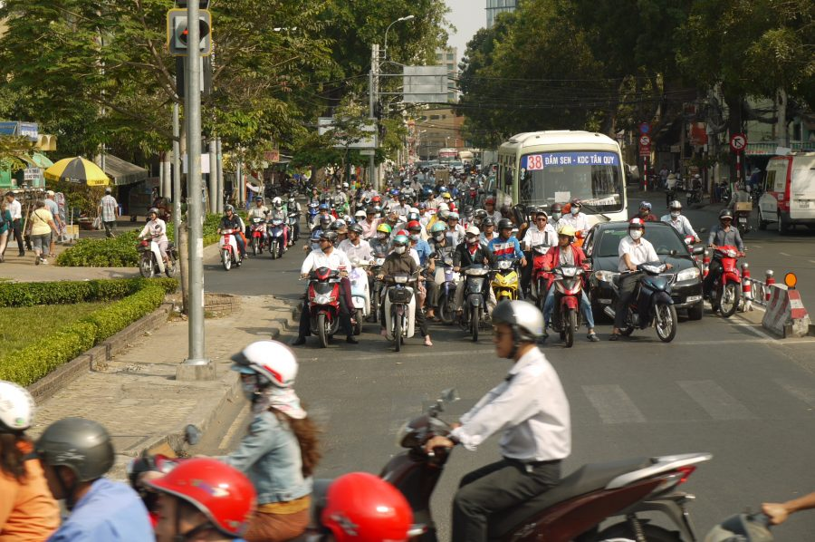 Motorbike congestion in Ho Chi Minh City