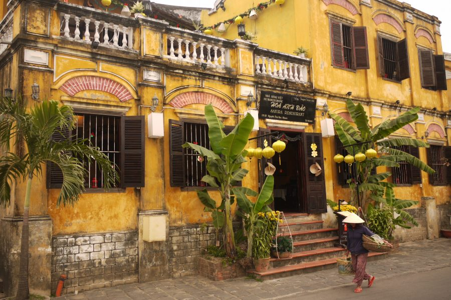 Beautiful old buildings in Hoi An, Vietnam