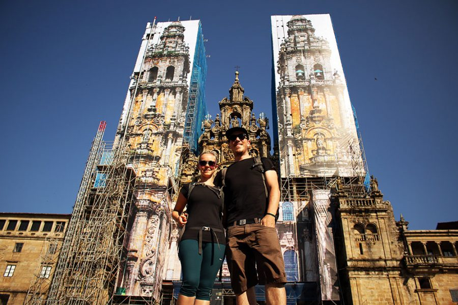 Year of Travel 2014 - Finished the Camino trek at the Cathedral of Santiago de Compostela