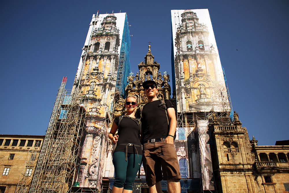 Finished the Camino trek at the Cathedral of Santiago de Compostela