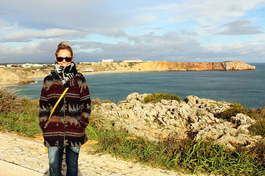 Year of Travel 2014 - Noelle at Sagres, Portugal; Europe's most south-westerly point