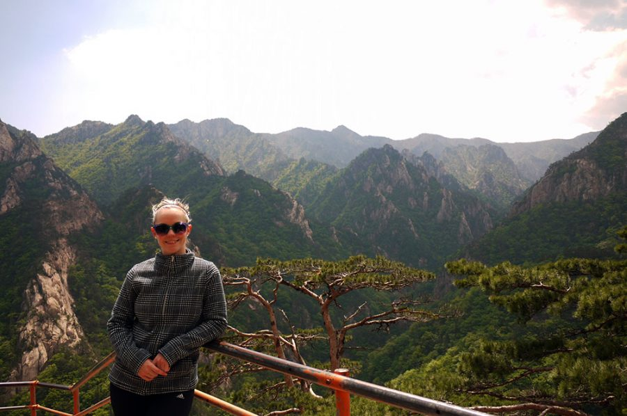 Year of Travel 2014 - Noelle hiking in Seoraksan National Park, South Korea