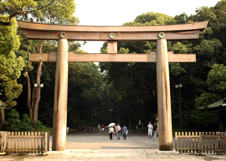 One of the giant Toris (Gates) at the Meji Shrine, Tokyo