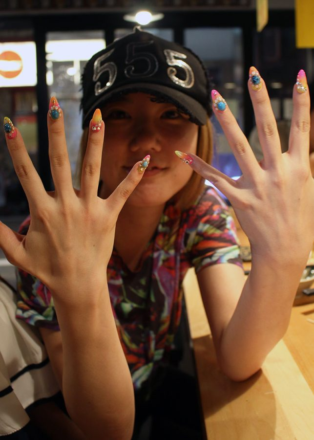 Colourful nails in Tokyo