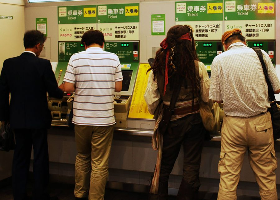 Captain Jack Sparrow Buying His Subway Ticket