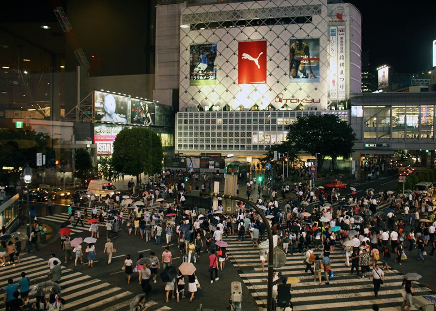 The infamous Shibuya Crossing, Tokyo, Japan