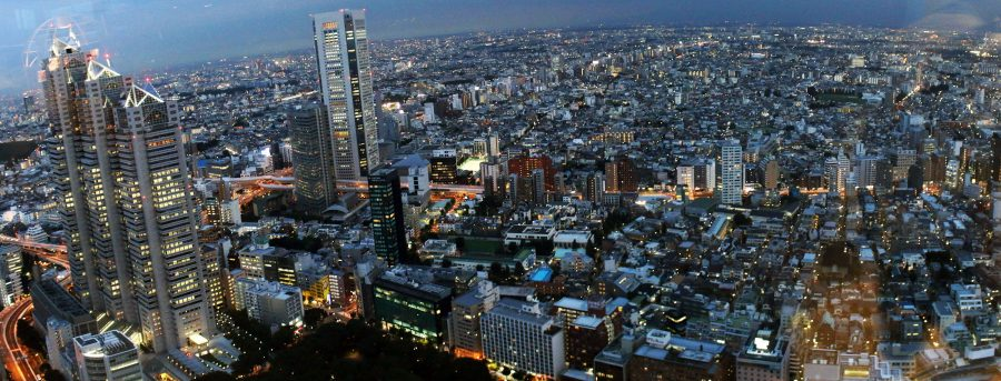 Amazing city view from the Tokyo Metropolitan Government Building