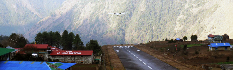 Adventure Travel - Flight to Lukla