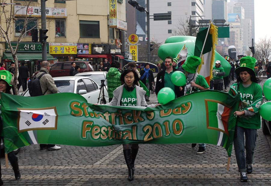 St. Patrick's Day parade and celebrations in Seoul, South Korea