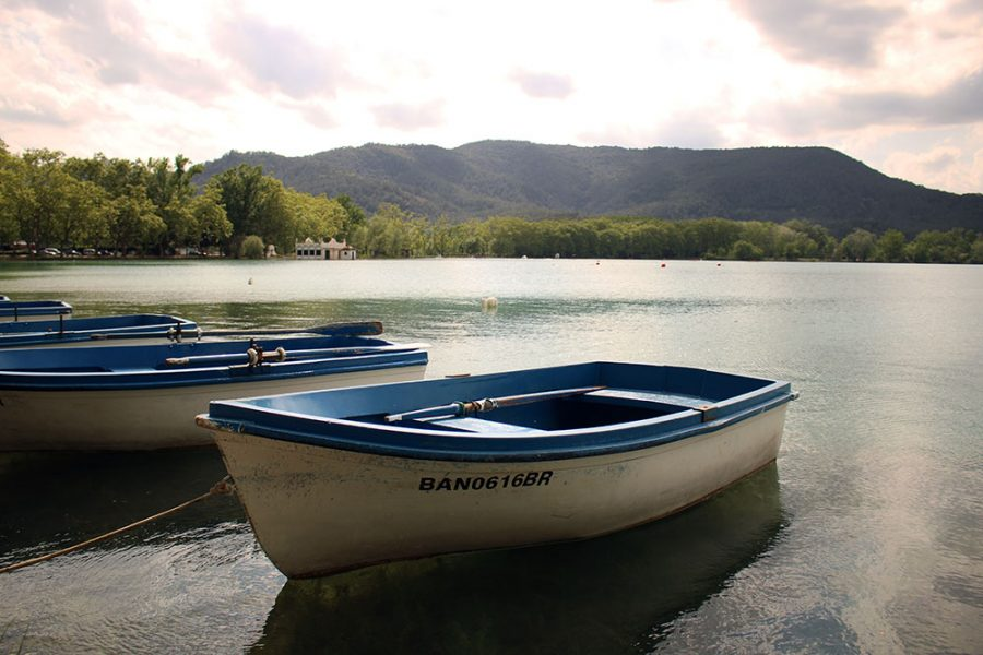 Boats On Banyoles Lake