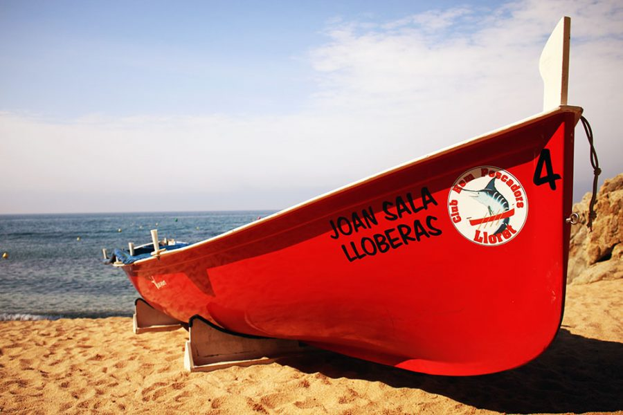 Boat on the beach at Lloret De Mar, Costa Brava