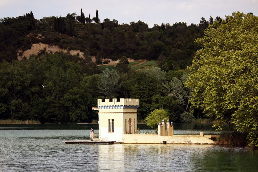 Lakeside Huts at Banyoles Lake