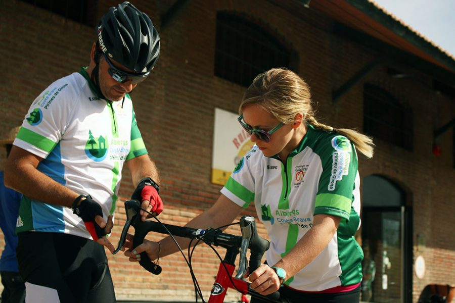 Noelle Getting Ready To Bike Through The Pyrenees, Catalonia