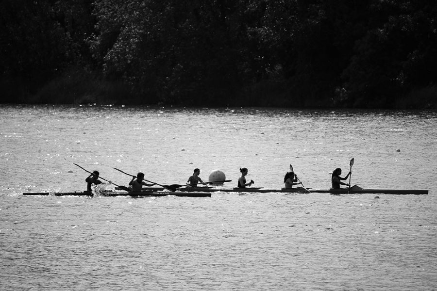 Rowing at Banyoles Lake