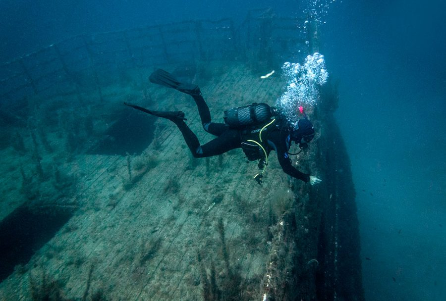 Scuba Diving at the MV Karwela Wreck in Goza, Malta