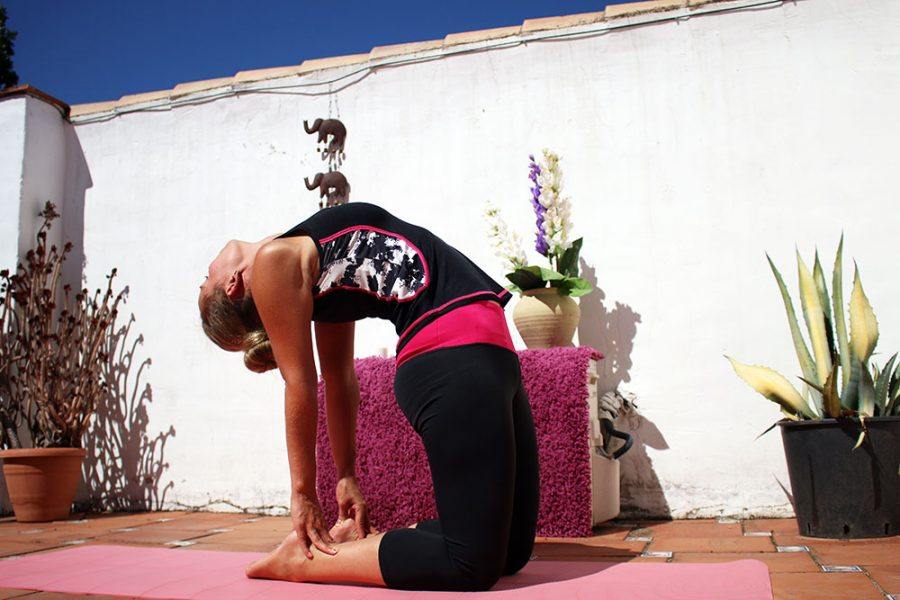 Stretch - Noelle practicing Yoga in the South of Spain