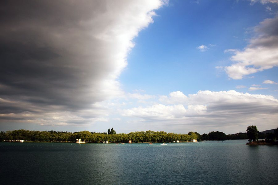Moody clouds over Lake Banyoles
