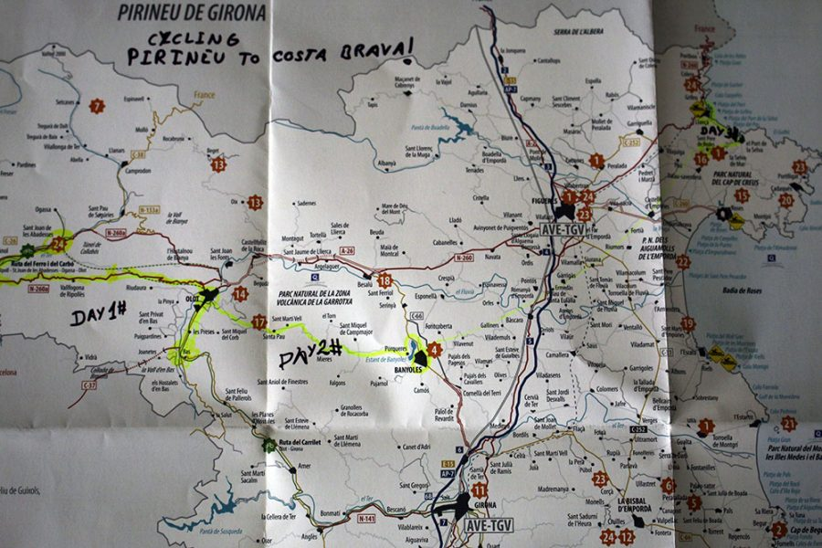 The Route: Cycle trip from the Pyrenees to the Costa Brava