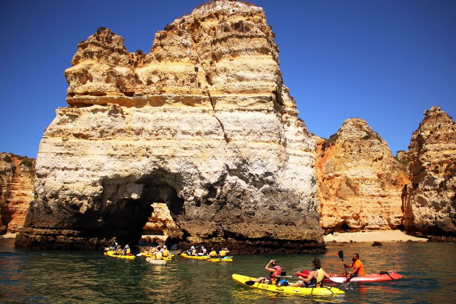 Enjoying one of the add-on excursions: Kayaking in Lagos