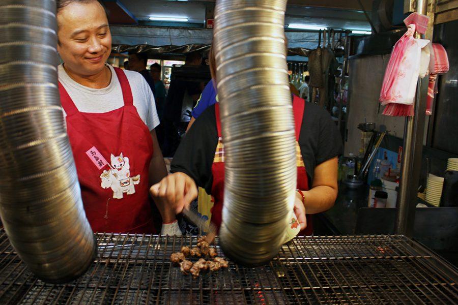 Grilling up at Ningxia Night Market
