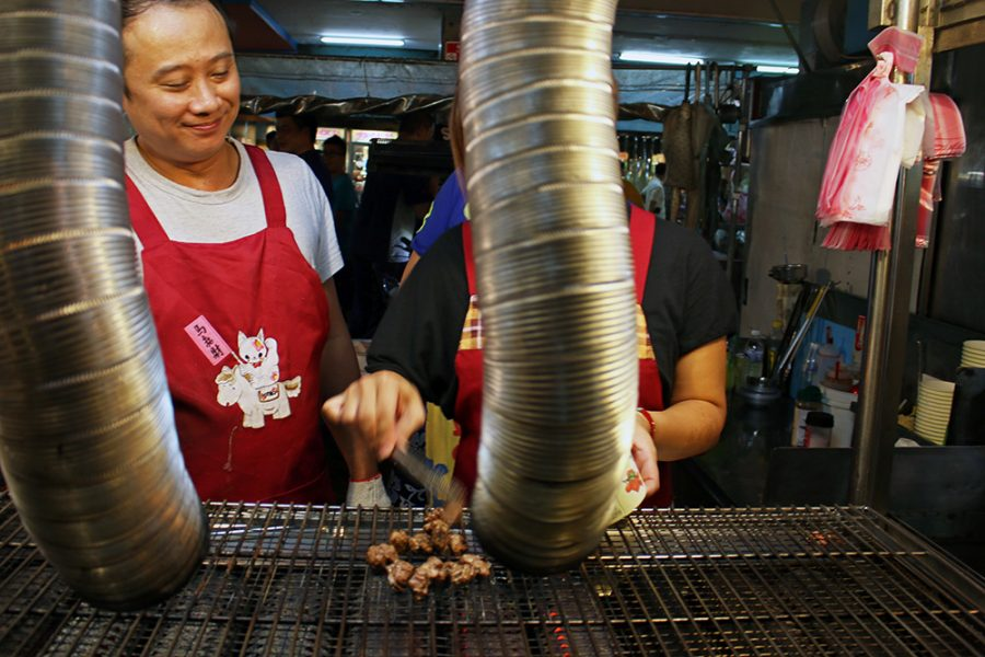 Grilling up at Ningxia Night Market