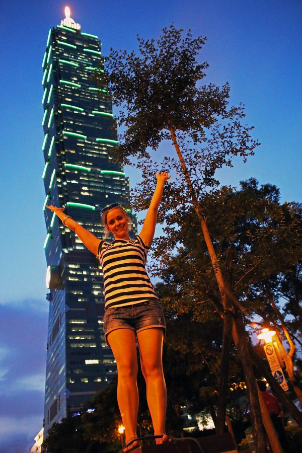 Noelle at Taipei 101