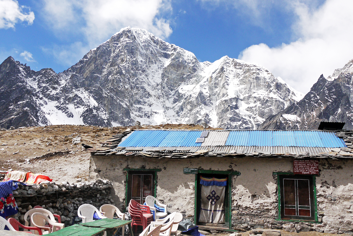 A simple home high in the Himalayas