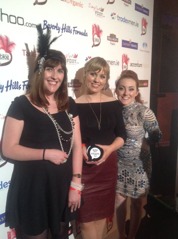 Sponsors Cassidy Travel accepting the Best travel Blog award in our absence
