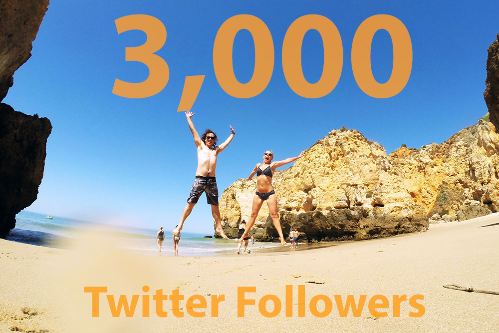 So happy to reach 3,000+ followers on Twitter