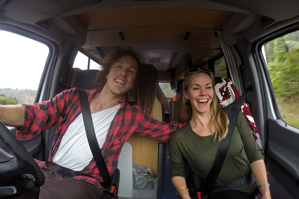 Driving around New Zealand by campervan - loving it!