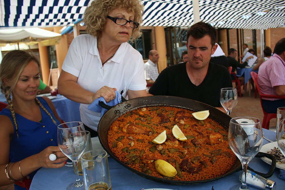 Feasting at the home of Paella; Valencia