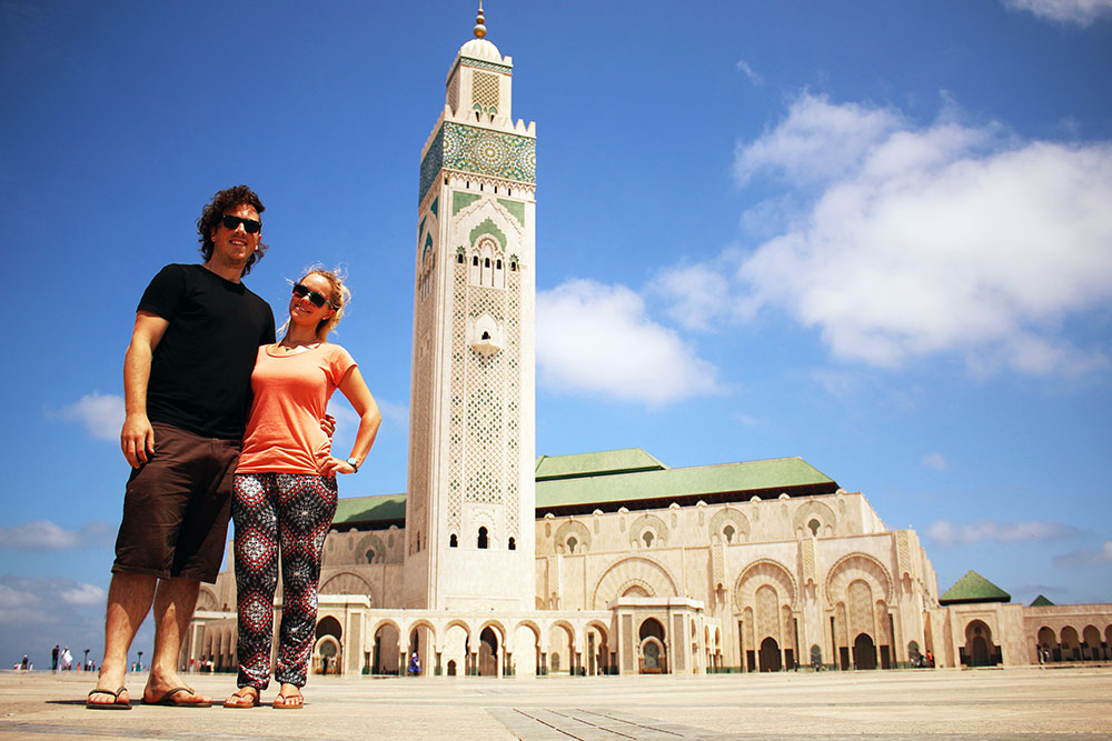 The third largest mosque in the world in Casablanca