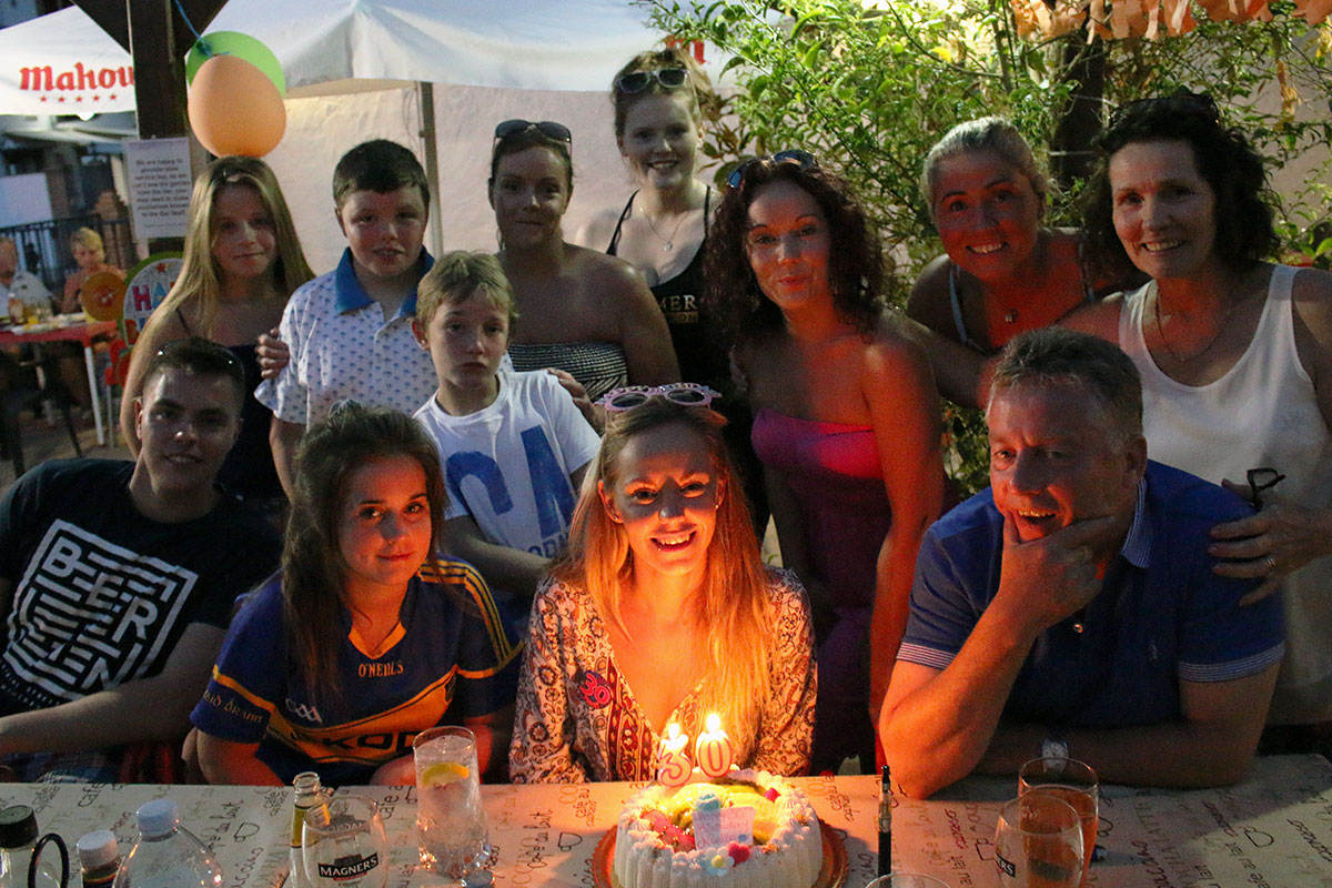 Noelle's family surprised her in Spain for her 30th birthday.