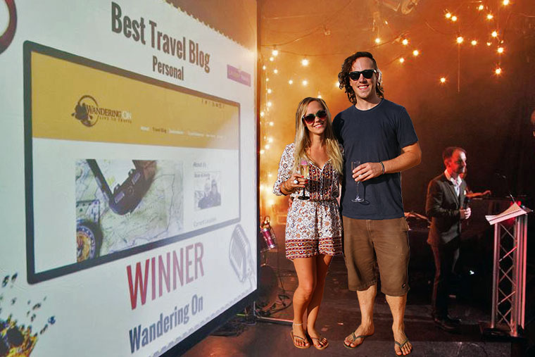 Winners of the Best Travel Blog at the Blog Awards Ireland 2015